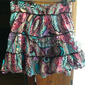 LEI Mini Flounce Skirt, S